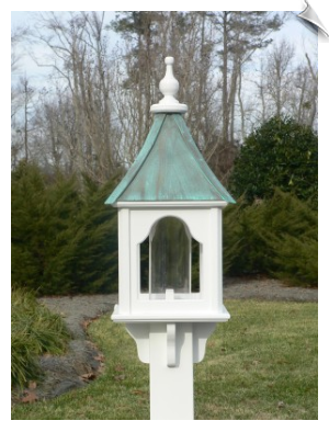 "10"" x 28"" Square Bird Feeder with 2 Roof Options"