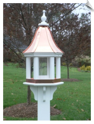 Six Column Bird Feeder with 2 Roof Options