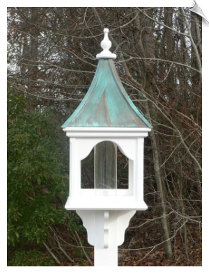 "14"" x 36"" Square Bird Feeder with 2 Roof Options"