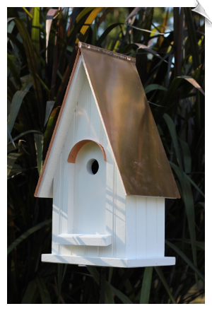 "White Gables Birdhouse <br><span style=""color:#1954e9;"">New Item!</span>"