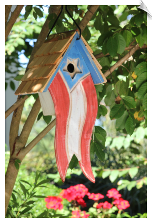 "Betsy's Birdhouse <br><span style=""color:#1954e9;"">New Item!</span>"