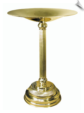 Brass Birdbath - Natural Brass Finish