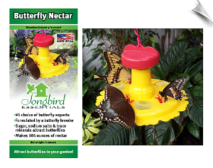"Butterfly Feeder & 5oz Nectar Combo <br><span style=""color:#1954e9;"">New Item!</span>"