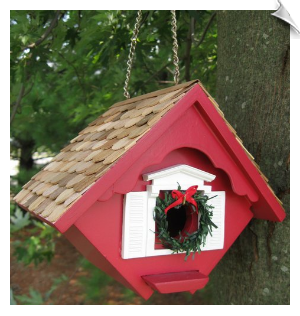 Christmas Wren Cottage - Red