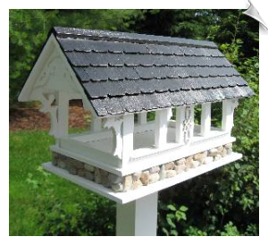 Covered Bridge Birdfeeder