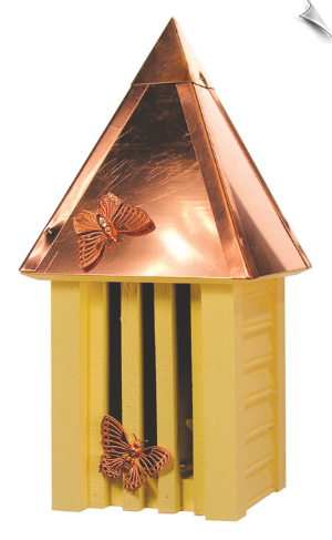 Flutterbye Butterfly House With Solid Copper Roof