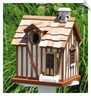 "Versailles Guest Cottage Birdhouse <br><span style=""color:#1954e9;"">New Item!</span>"