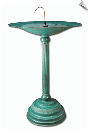 Brass Birdbath in Patina Finish