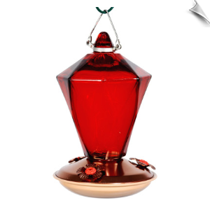 "Ruby Diamond Hummingbird Feeder<br><span style=""color:#1954e9;"">New Item!</span>"