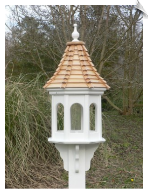 "14"" Sloped Roof Bird Feeder  with 3 Roof Options"