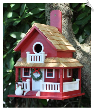Christmas Cottage Birdhouse