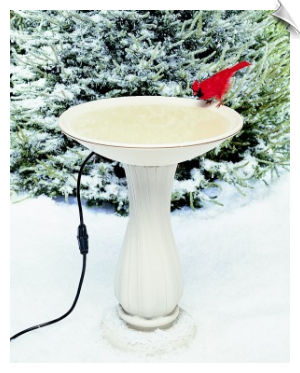 Heated Birdbath (or non-heated) With Optional Pedestal
