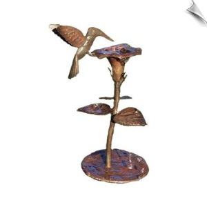 "Solid Copper Dripper/Fountain with Hummingbird <br><span style=""color:#1954e9;"">New Item!</span>"