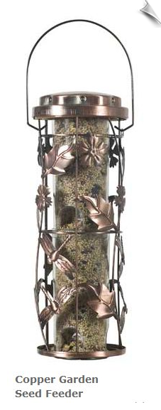 Copper Garden Seed Feeder
