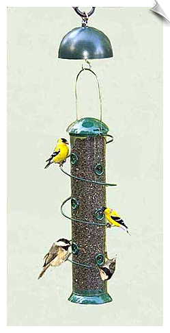 "Super Spiral 18"" Sunflower Feeder/Twirl A Squirrel Combo <br> <span style=""color:#1954e9;"">New</span>"