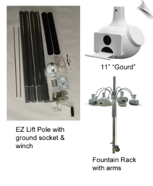 Ultimate, Eight Gourd Martin Community with EZ Lift Pole and Winch