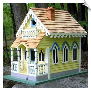 "Victorian Cottage Birdhouse <br><span style=""color:#1954e9;"">Closeout Special</span>"