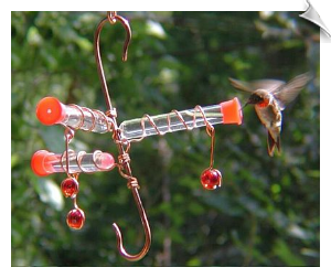 "Whimsy Three Hummingbird Feeder <br> <span style=""color:#1954e9;"">New Item</span>"