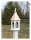 "8"" x 24"" Square Bird Feeder with 2 Roof Options"