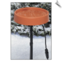 "12 Inch Diameter Heated Bird Bath with Metal Stand <br><span style=""color:#1954e9;"">New Item!</span> (SKU: ALLIEDPR400-gc)"