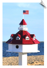 "Annapolis Lighthouse Birdhouse <br> <span style=""color:#1954e9;"">New Item</span>"