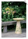 "Clay Gold Finch Bird Bath <br><span style=""color:#1954e9;"">New Item!</span> (SKU: BCFINCH-bc)"