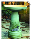 "Clay Great Northern Loon Bird Bath <br><span style=""color:#1954e9;"">New Item!</span> (SKU: BCLOONSET-bc)"