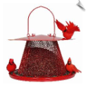 "Red Cardinal ""NO/NO"" Feeder <br><span style=""color:#1954e9;"">New Item!</span>"